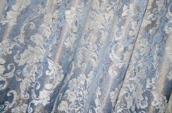 """Ткань для штор и мебели """"Фортуна"""" синий узор"""