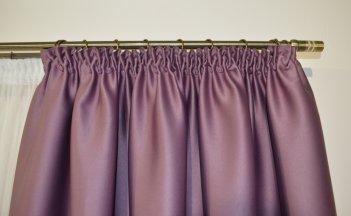 Готовые шторы блекаут CLOUD сиреневого цвета 10337 (2 шт х 1,5 м)