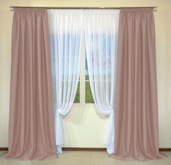 Готовые шторы из портьеры Diamond розово-сиреневого цвета 12481 Gulkurusu (2 шт х 1,5 м)