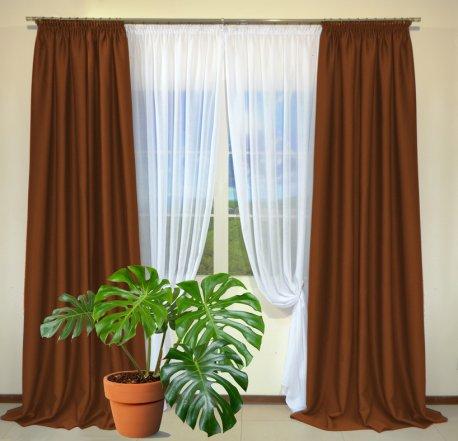 Готовые шторы из портьеры Diamond терракотового цвета 12486 Kiremit (2 шт х 1,5 м) недорого