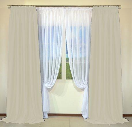 Готовые шторы из портьеры Diamond светло-кремового цвета 12489 Krem (2 шт х 1,5 м) недорого