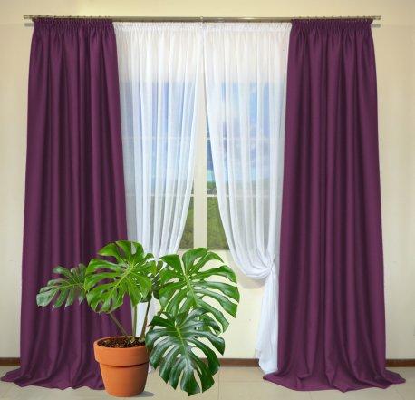Готовые шторы из портьеры Diamond вишневого цвета 25 Visne (2 шт х 1,5 м) недорого