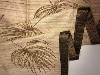 Готовая штора на люверсах Папирус льняного цвета