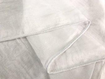 Тюль Батист белого цвета