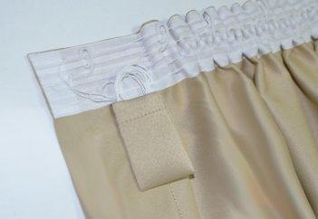 Готовые шторы блекаут CLOUD бежевого цвета BEJ 10326 (2 шт х 1,5 м)