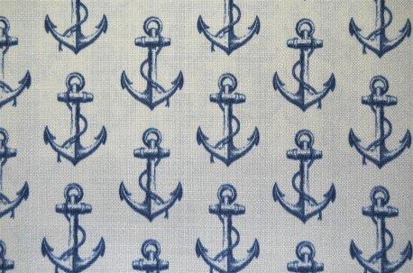 """Ткань для штор """"Anchor"""" синяя недорого"""