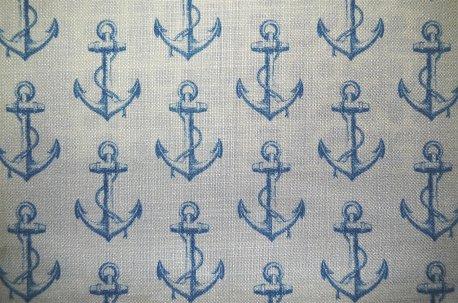 """Ткань для штор """"Аnchor"""" голубая недорого"""