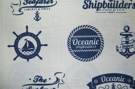 "Ткань для штор ""Oceanic"" синяя недорого"