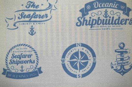 """Ткань для штор """"Oceanic"""" голубая недорого"""