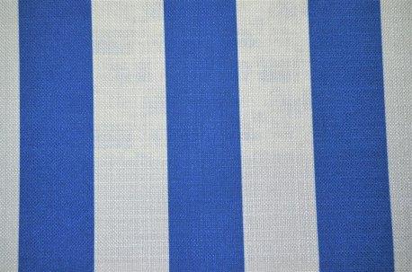 """Шторная ткань """"Navy Stripe"""" голубая недорого"""