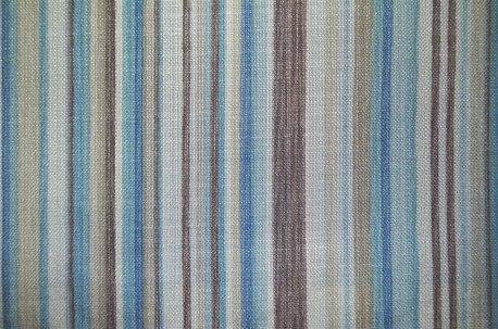"Ткань шторная ""Marine Stripe"" бежево-голубая недорого"