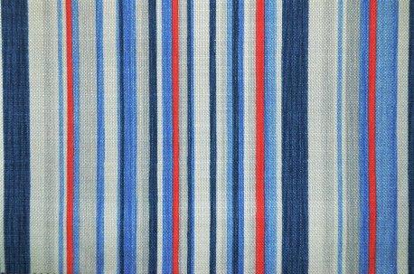 "Шторная ткань ""Marine Stripe"" сине-красная недорого"
