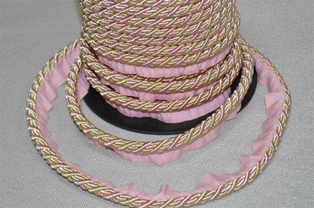 Шнур толстый цвет розово - бежевый недорого