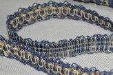 Тесьма декоративная сине - бежевая