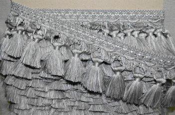 Бахрома для штор цвет серебро