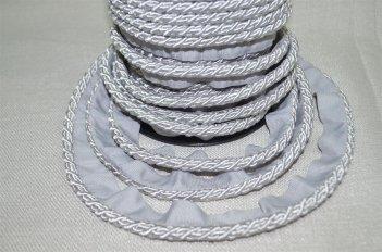 Шнур тонкий цвет серебро