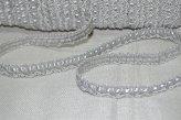 Тесьма декоративная цвет серебро