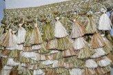 Бахрома для штор бежево - оливковая