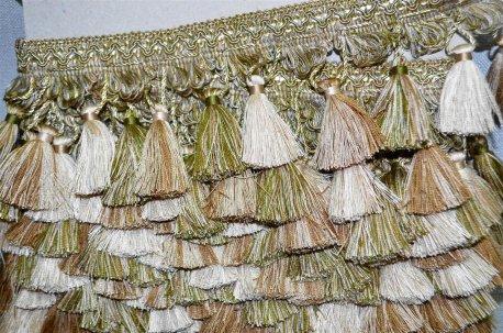 Бахрома для штор бежево - оливковая недорого