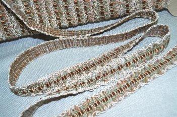 Тесьма декоративная цвет бежево - оливковый