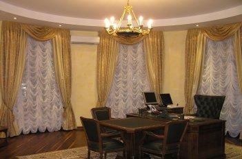 Французские тюли в кабинете