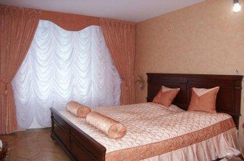 Французская тюль в спальне