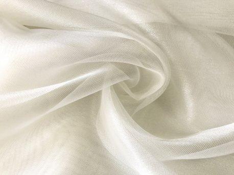 Тюль сеточка глянцевая кремовая недорого