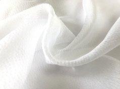 Текстурная матовая органза белого цвета