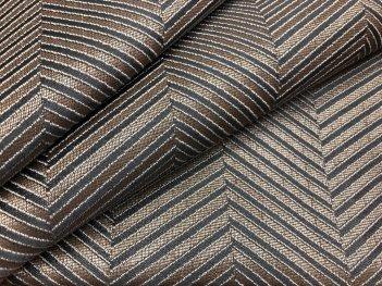 Портьера MIRAY елочка серо-коричневого цвета