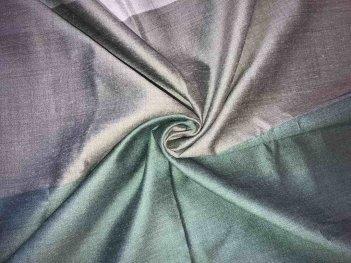 Гардина в широкую полосы серо-бирюзовая