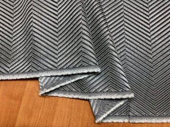 Портьера MIRAY елочка, цвет серый 101