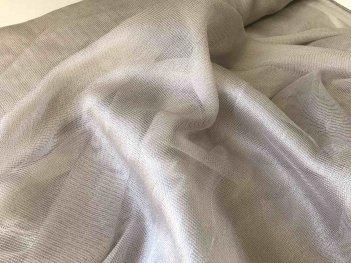 Красивый тюль-сеточка с блеском серо-бежевая