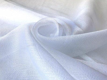 Красивый тюль-сеточка с блеском белая недорого