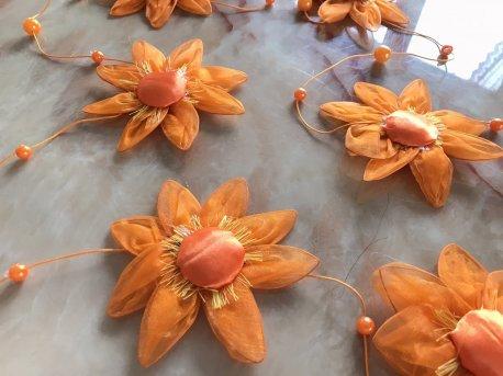Украшение для штор Цветок оранжевый недорого