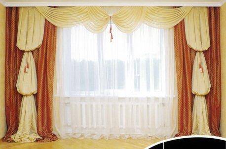 Красивые классические шторы в гостинной недорого