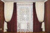 Простой и нарядный фасон штор для зала