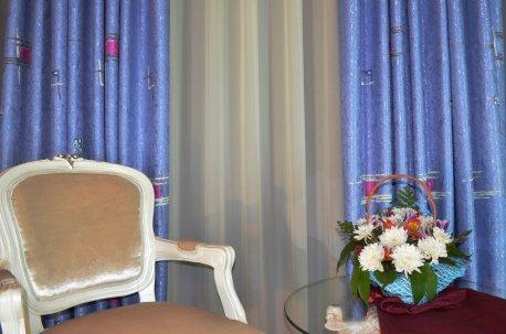 """Готовые шторы """"Виктория"""" голубая недорого"""