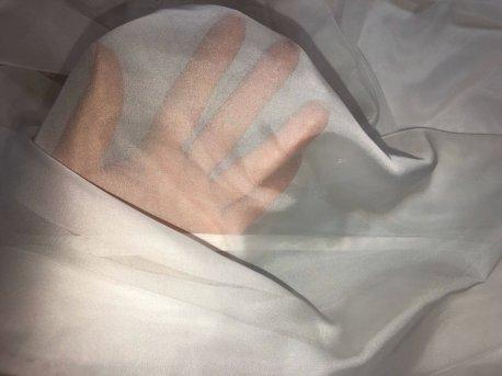 Готовый тюль с эффектом люверсов молочного цвета недорого