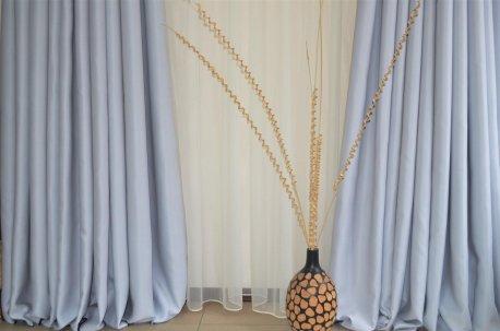 Ткань для штор Блекаут Шедоу светло - серый недорого