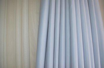 Ткань для штор Блекаут Шедоу светло - серый