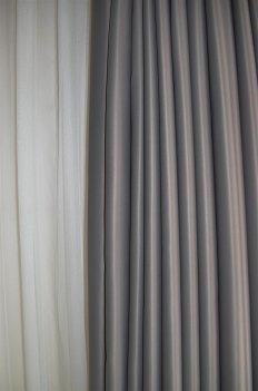 Ткань для штор Блекаут Шедоу пепельный