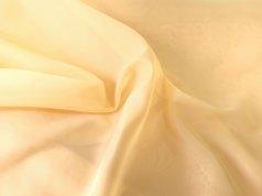 Тюль Вуаль желтого цвета