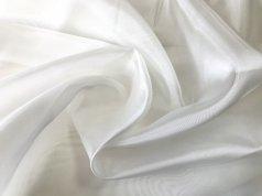 Микровуаль с жемчужным отливом белого цвета