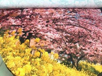 Сатин с цветочным фотопринтом