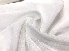 Тюль Keten под лен молочного цвета