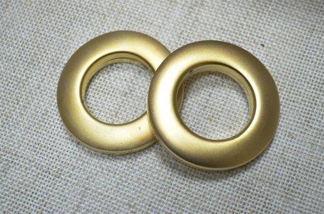 Люверсы круглые 28 мм, золото матовое недорого
