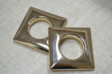 Люверсы квадратные 28 мм, хром недорого