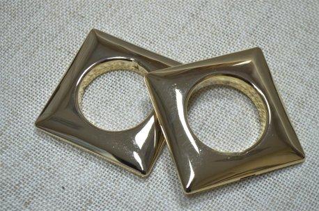 Люверсы квадратные 35 мм, хром недорого