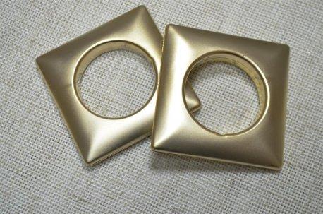 Люверсы квадратные 35 мм, золото матовое недорого