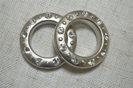 Люверсы круглые со стразами 35 мм, сатин недорого